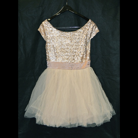 aee6815ef Trixxi Dresses | Campaign Bronze Sequin Dress Juniors 9 | Poshmark